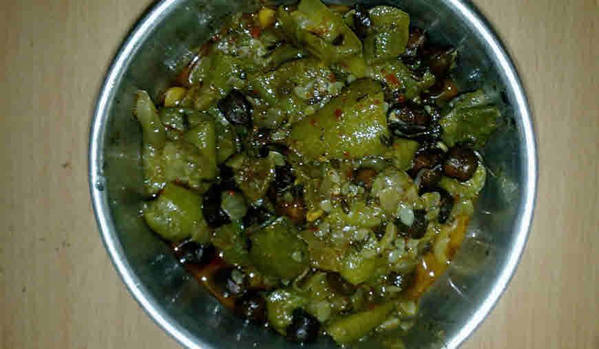 Recipe Nenua Tori Chana Sabji Bimbima